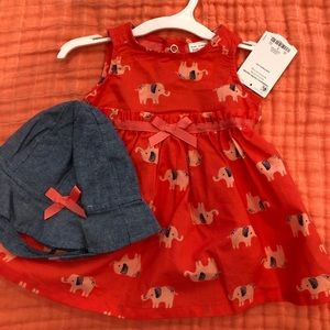 Carters dress and hat